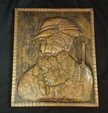 Vintage Repousse Copper Wall Art Conquistador Soldier Portrait 3D