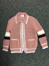 Zara Kids Pink Cardigan Wool Blend Girls 8-9 Years