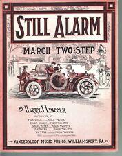 Still Alarm 1914 Harry J Lincoln Large Format Sheet Music