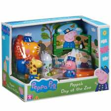 Peppa Pig-Peppa's Zoo Playset con Day at the 3 figuras Inc Mr Lion & Gerald