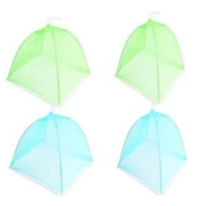 4X Pop Up Food Cover Protective Cake BBQ Covers Insect Folding Mesh Umbrella42cm
