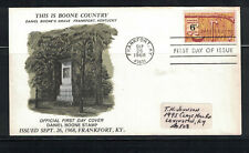 US 196: #1357 Daniel Boone SA Cachet FDC; History, Kentucky:Lot#10/19
