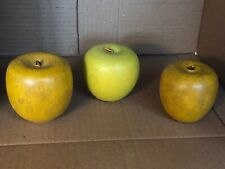 Preowned Wooden Decorative Yellow Apples