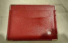 ROLEX Vintage CREDIT CARD WALLET HOLDER 101.60.34 RED LADY NOS