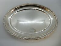 VICTORIAN Small OVAL Shaped Solid SILVER TRAY, Birmingham 1892. 110g