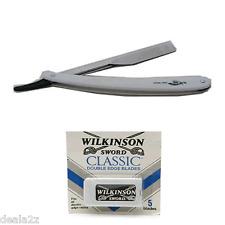 Shaving Flap Razor +  Wilkinson Sword Classic 5 Blades Double Edge USA SELLER