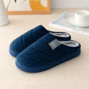 Winter Slippers Striped Velvet Comfortable Shoes Short Plush Suede Fur Unisexs