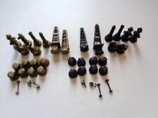 "Oil Industry Themed Chess Set 3 5/8"" - 1"" Derrick Rigs Heads Pumps Valves Tanks"