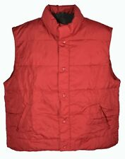 Cabelas 550 Goose Down Puffer Vest Size XL Lodge Red Hunting Fishing Canada Made