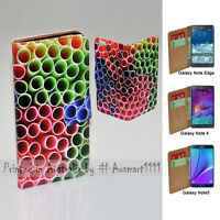 For Samsung Galaxy Note Series Colourful Straw Print Mobile Phone Case Cover