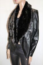 i JEANS by BUFFALO Brand Black Faux Leather & Fur Jacket Size L LIKE NEW  #SJ20