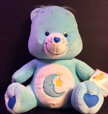 Care Bears Blue BEDTIME BEAR Stuffed Animal Plush Cresent Moon W. Tag 2003
