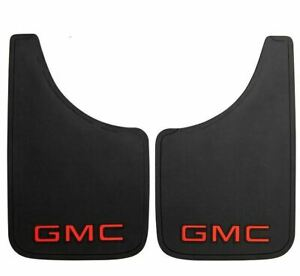 """Plasticolor 000493R01 9"""" x 15"""" Mud Flaps With GMC Logo New Free Shipping USA"""