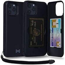 TORU CX PRO iPhone 12 Pro Max Case Black Card Storage Back 3Sheet Card Holder