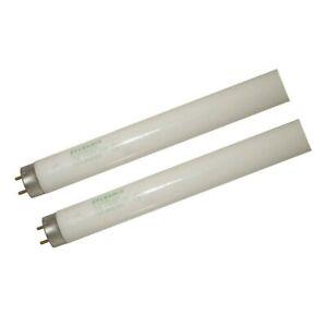 "2 Pack 17W 24"" T8 Medium Bi-Pin Cool White Fluorescent Light Bulbs"