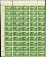 617, VF Mint NH Scarce Top Sheet of 50 1¢ Stamps Brookman $400.00 - Stuart Katz