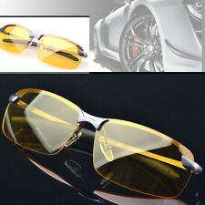 Night Driving Glasses Anti Glare Vision Polarized Yellow Lens Tinted Unisex