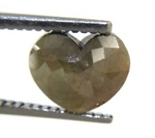 1.87CtS Natural Real Heart Shape Gray Color Rose Cut diamond 8.88x7.24x3.30 MM