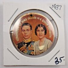 1937 Coronation of King George VI and Queen Elizabeth British Pin Pinback Button