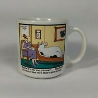 The Far Side Gary Larson Mug Cow At The Psychologist Herd Mentality Vintage 1988