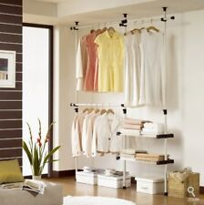 Closet Organizer Shelves System Kit Shelf Clothes Rack Storage Wardrobe Hanger