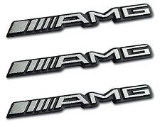 3x AMG Sticker Emblem Logo Aufkleber Mercedes C CL CLS E S SL SLK ML GL B 63 GLE