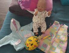 Zapf Creation Baby Born Boy Puppe inkl Zubehör Schlafsack Flasche Kleidung