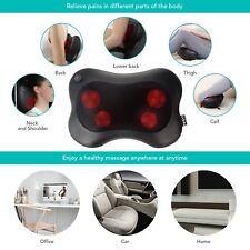 Oreiller de Massage Shiatsu 3D Coussin Chaleur Infrarouge Colonne Cou Dos