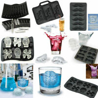 Gun Bullet Skull  Ice Cube Tray Mould Pudding Jelly Mold Freeze Bar Party Drink