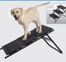 2 in 1 Dog Pet Puppy Ramp & Stairs Folding Lightweight Portable Cat Travel Step