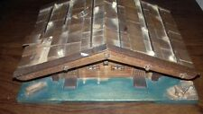 vintage 1960s musical box german log cabin good condition unique see description