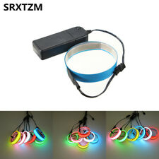100cm Flexible LED Tap Light Glow EL Wire Rope Cable Strip Battery Powered Xmas