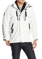 Canada Weather Gear Mens White Size XL Soft Shell Fleece Patched Coat $300- 508