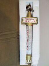 """Excellent Primus Haacht Sword Crest Belgium 13"""" Beer Keg Tap Handle"""