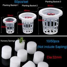 50pcs Planting Basket Nursery Sponge  Flower Pots Seed Trays Garden Supplies HOT