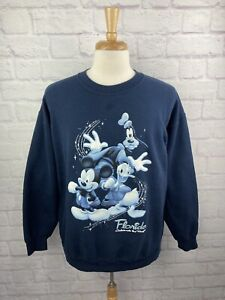 Vintage Mickey Mouse Sweatshirt Florida Souvenir Tourist Disney large LG