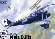Roden Pfalz D.IIIa Jasta 40 Pilot Karl Degelow West Front 1:72 Model-Bausatz kit