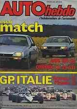 AUTO HEBDO n°386 du 15 Septembre 1983 GP ITALIE BMW 745i CX GTI AUDI 100CD