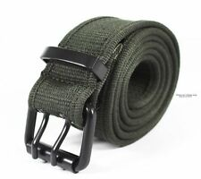 """High Quality MENS MILITARY CANVAS WEB BELT with Pin Buckle 120CM Big Size 44"""""""