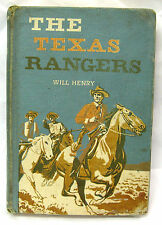 """Will Henry """"THE TEXAS RANGERS"""" - """"1st"""" ed. 1957 HB/PC horse stories - Americana"""