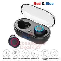 Wireless Earbuds Bluetooth 5.0 Sweatproof TWS In-Ear Mic Stereo Headphone