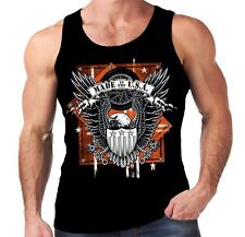 Velocitee Mens Vest Made In USA Eagle Hot Rat Rod Muscle Car Harley Biker W17068