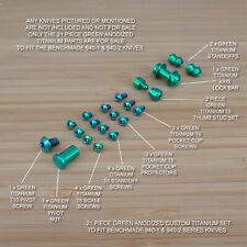 Benchmade 940-1 Osborne 21 PC Custom Titanium Screw & Pivot Set Anodized GREEN