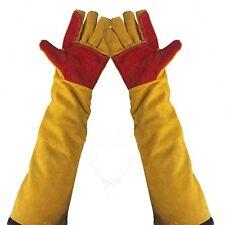 24 Long Split Leather Welding Glove Cuff Welder Protective Soldering Gloves