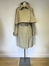 VIVIENNE WESTWOOD BEIGE CAPE BELTED KNEE LENGTH TRENCH COAT SIZE 40 UK 12