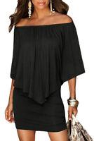Sexy abito da donna mini vestito nero Casual