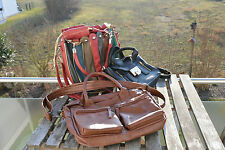 3 x Handtasche in braun, schwarz und bunt Damen Handtaschen Set Paket