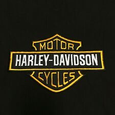 HARLEY DAVIDSON ORANGE BAR SHIELD BIKER PATCH LARGE JACKET PATCH  NEW LSM
