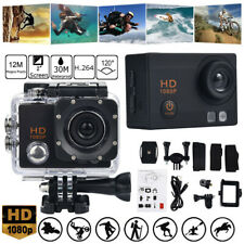 Action Camera 1080P 12Mp Sports Camera Waterproof Action Cam with Mounting Kit