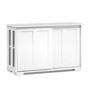 Artiss Buffet Sideboard Cabinet White Doors Storage Shelf Cupboard Hallway Table